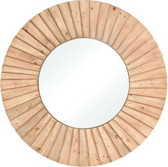 ELK Home 351-10739 Aviation Natural Wood Wall Mounted Mirror