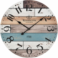 ELK Home 351-10784 Herrera Natural Wood / Blue / White Wall Clock