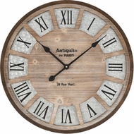 ELK Home 351-10785 Pollock Brown / Galvanized Steel Wall Mounted Clock