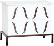 ELK Home 7011-1831 Swoops Modern White Chest