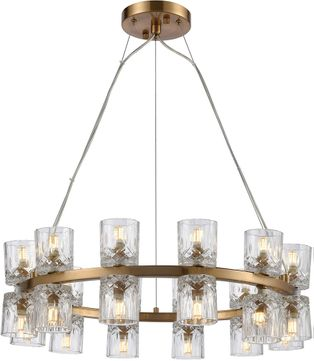 ELK Home D4180 Double Vision Contemporary Clear / Satin Brass Halogen Chandelier Light
