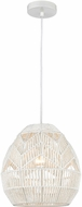 ELK Home D4220 Boho Contemporary White Mini Pendant Light
