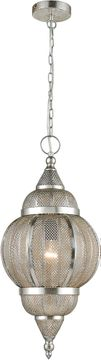 ELK Home D4228 Medina Contemporary Silver Mini Pendant Lamp