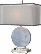 ELK Home D4230 Marble Sky Blue / Clear Crystal Table Top Lamp
