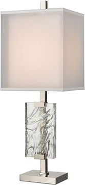 ELK Home D4235 Slice Of Ice Contemporary Polished Nickel Table Light