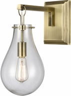 ELK Home D4245 Brass Tear Modern Antique Brass / Clear Sconce Lighting