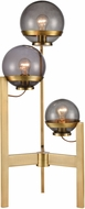 ELK Home D4247 South Water Contemporary Antique Brass / Smoked Glass Table Lamp Lighting