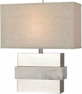 ELK Home D4289 Keystone White / Silver Table Lamp