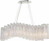 ELK Home D4294 Diplomat Contemporary Clear / Chrome Kitchen Island Light