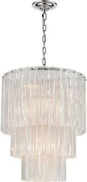 ELK Home D4295 Diplomat Modern Clear / Chrome Hanging Light