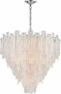 ELK Home D4298 Diplomat Contemporary Clear / Chrome 31.5  Pendant Lighting Fixture