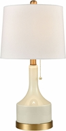 ELK Home D4312 Small But Strong Jade White Glass / Matte Brushed Gold Lighting Table Lamp