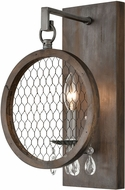 ELK Home D4328 Renaissance Invention Aged Wood / Weathered Zinc Lamp Sconce