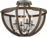 ELK Home D4330 Renaissance Invention Aged Wood / Weathered Zinc Ceiling Lighting