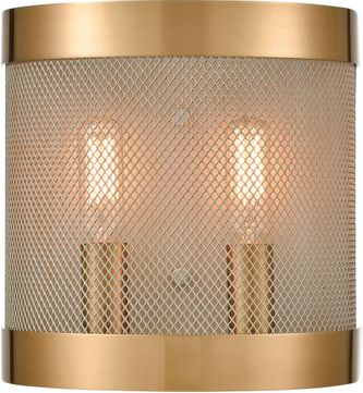 ELK Home D4335 Line In The Sand Modern Satin Brass / Antique Silver Wall Sconce Lighting