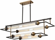 ELK Home D4336 North by North East Contemporary Oil Rubbed Bronze / Satin Brass Kitchen Island Light Fixture
