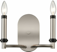 ELK Home D4339 Sunsphere Modern Satin Nickel / Matte Black Wall Light Fixture