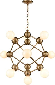 ELK Home D4344 Grow From Here Contemporary Satin Brass Mini Lighting Chandelier