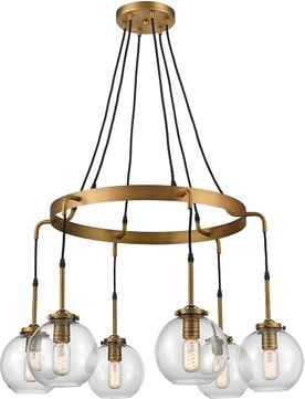 ELK Home D4346 Mountain Creek Contemporary Aged Brass Chandelier Lamp