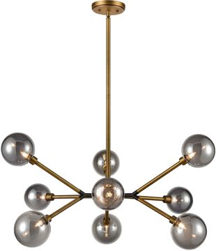 ELK Home D4348 Starting Point Contemporary Aged Brass / Matte Black LED Ceiling Chandelier