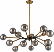 ELK Home D4349 Starting Point Modern Aged Brass / Matte Black LED Hanging Chandelier