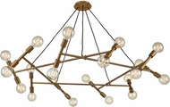 ELK Home D4350 Guesting Contemporary Antique Brass Chandelier Light