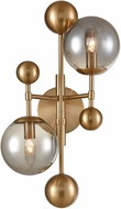 ELK Home D4362 Ballantine Contemporary Aged Brass / Smoked Glass Wall Mounted Lamp