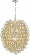 ELK Home D4372 Bubble Up Modern Amber Plated Glass / Chrome Pendant Lighting