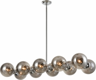 ELK Home D4373 Affinity Contemporary Chrome / Smoked Glass Kitchen Island Lighting