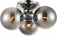ELK Home D4375 Affinity Modern Chrome / Smoked Glass Ceiling Light
