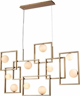 ELK Home D4380 Amazed Modern Aged Brass / White LED Kitchen Island Light