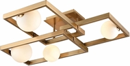 ELK Home D4381 Amazed Contemporary Aged Brass / White LED Ceiling Lighting Fixture