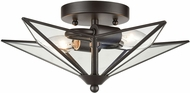 ELK Home D4385 Moravian Star Contemporary Oil Rubbed Bronze / Clear 14  Ceiling Light Fixture