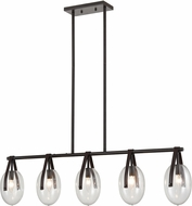 ELK Home D4394 Slingshot Contemporary Oil Rubbed Bronze / Clear Island Light Fixture