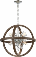 ELK Home D4469 Morning Star Aged Wood 30  Hanging Lamp