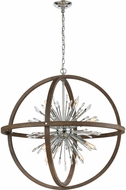 ELK Home D4470 Morning Star Aged Wood 19.5  Hanging Light