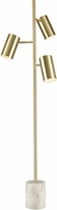 ELK Home D4533 Dien Honey Brass LED Floor Lamp Light