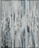 ELK Home H0016-8154/S3 Lasting Texture Contemporary Silver Framed Wall Art