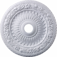 ELK M1006WH Floral Wreath White 24 Inch Medallion