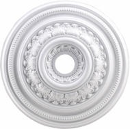 ELK M1012WH English Study White 24 Inch Medallion