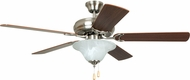 Craftmade DCF52BNK5C1 Decorator's Choice Brushed Polished Nickel 52  Home Ceiling Fan