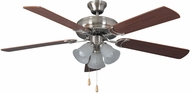 Craftmade DCF52BNK5C3 Decorator's Choice Brushed Polished Nickel 52  Ceiling Fan