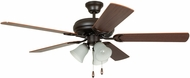 Craftmade DCF52FBZ5C3 Decorator's Choice French Bronze 52  Home Ceiling Fan