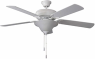 Craftmade DCF52MWW5C1 Decorator's Choice Matte White 52  Home Ceiling Fan
