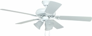 Craftmade DCF52MWW5C3 Decorator's Choice Matte White 52  Ceiling Fan