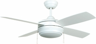 Craftmade LAV44MWW4LK Laval Contemporary Brushed Pewter Fluorescent 44  Ceiling Fan