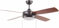 Craftmade LAV52ESP4LK Laval Contemporary Matte White Fluorescent 52  Ceiling Fan
