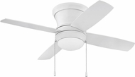 Craftmade LAVH44MWW4 Laval Hugger Matte White Fluorescent 44  Ceiling Fan