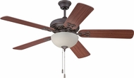 Craftmade MAJ52AGVM5C1 Majestic Aged Bronze/Vintage Madera Fluorescent 52  Ceiling Fan