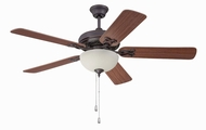 Craftmade MAJ52OBG5C1 Majestic Oiled Bronze Gilded Fluorescent 52  Home Ceiling Fan